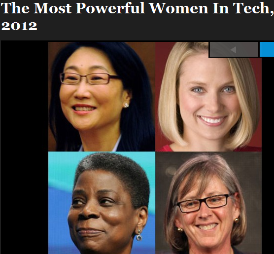 most powerful women of Tech, 2012