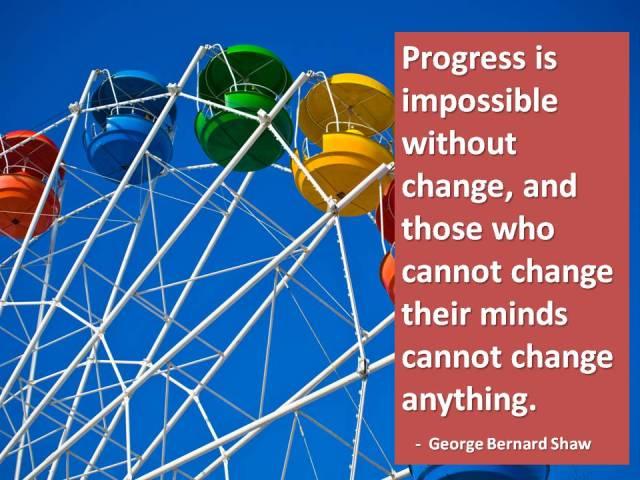 Change and Progress - George Bernard Shaw